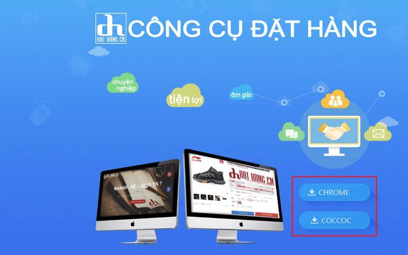 Cài đặt công cụ hỗ trợ đặt hàng của iChina